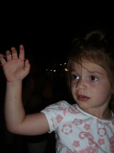 Alana waves at Charlie Robison (he didn't wave back)