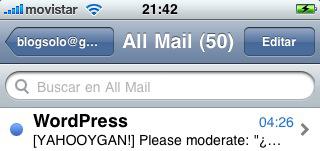 Captura de iPhone con cuadro de búsqueda visible
