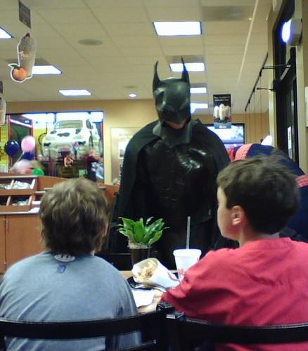 Batman at Chick Fil-A