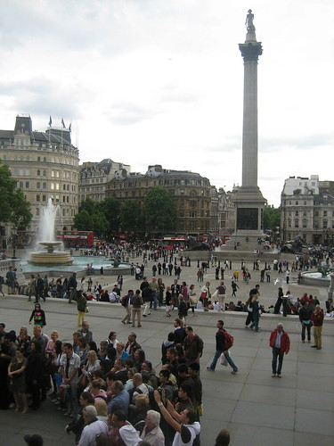 View of Trafalgar Square from the National Gallery