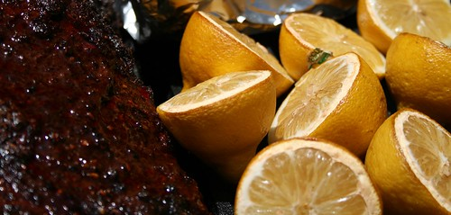Smoked lemons and brisket