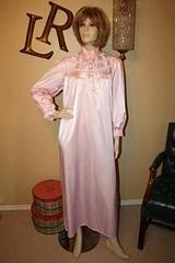 Pink Satin Nightgown Full Length Front 1 (mondas66) Tags: ruffles lingerie boudoir satin nightgown frilly nightgowns nightdress ruffle nightwear frills frill ruffled nightie frilled nighties nightdresses frilling frillings