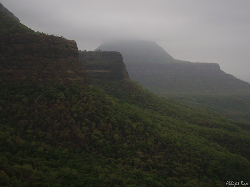 Siddhagad with top in clouds