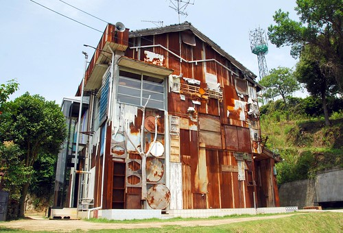 exterior of haisha art house (by Shinro Ohtake), naoshima