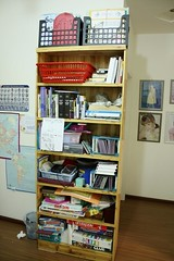 bookshelf organizing BEFORE
