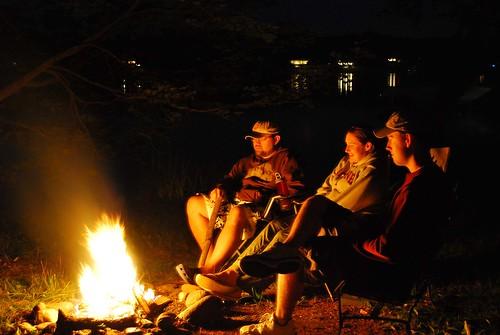 campfire huddle