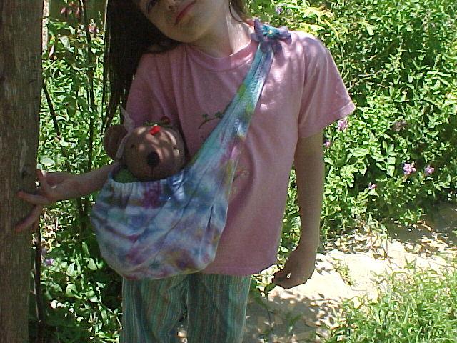Tie Dye Doll Sling
