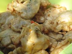 Fried and battered vegetables