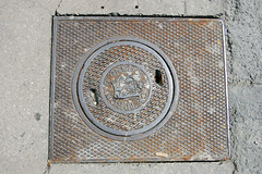 1889 - 016 - August 17, 2009 (collations) Tags: toronto ontario concrete pavement lookdown castiron 1889 manholes manholecovers drains sewers catchbasins accesscovers sewergrates torontoboardofworks pavementdetails