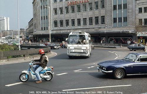 Royal Blue Bristol RE 2400, April 26th 1980.