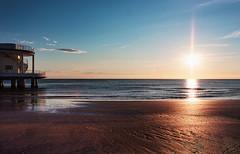 Rotonda: Red Beach (.Gianluca) Tags: morning blue red sea italy orange white beach sunrise canon rotonda bluesky marche senigallia ciccio ancona redbeach unarotondasulmare