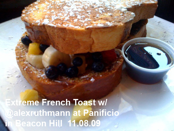 Extreme French Toast at Panificio in Beacon Hill