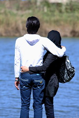 Future Ahead (hapal) Tags: sea woman man love back hug iran iranian engaged        canoneos40d hamidnajafi