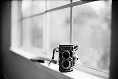 Window Light (DowntownRickyBrown) Tags: 35mm bokeh windowlight leicam6 fujineopanacros rolleiflex35f ilfosol3 voigtlandernokton50mm11 thevampirelair