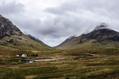 A Quiet Neighbourhood (joeri-c) Tags: uk cloud house mountain rain river dark landscape scotland highlands nikon cloudy grim unitedkingdom hill scenic glen valley glencoe nikkor drama paysage volcanic barren munro d5000 rivercoupall 1685mm glenofweeping gleanncomhan