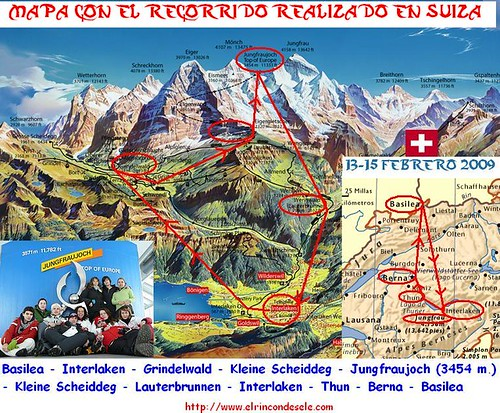 Mapa recorrido Suiza feb09 por ti.
