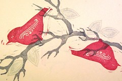 'birds and branches on paper' - craftyhag on Flickr