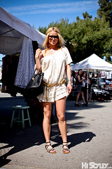 HiStyley l Melrose Trading Post  Street Style  #154 (HiStyley) Tags: california ca street city portrait people girl sunglasses fashion bag gold losangeles belt women dress sandals style blond 09 hollywood 2009 headband eyewear streetfashion streetstyle gladiatorsandals melrosetradingpost histyley