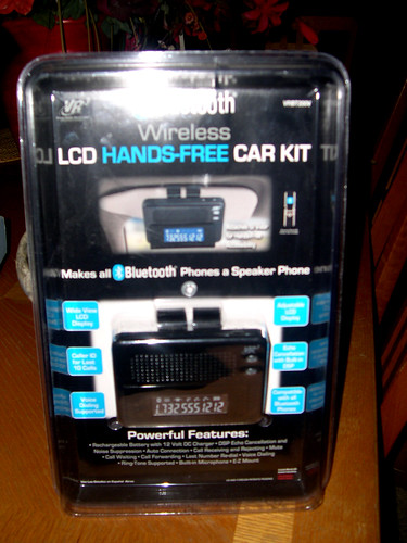 BLUETOOTH LCD HANDS-FREE WIRELESS CAR KIT