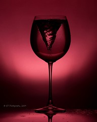 Devil in a Wine Glass (ICT_photo) Tags: red studio wine guelph bubbles demon devil wineglass tornado tamron90 ictphotography ictphoto ianthomasphotography ianthomasguelphontario