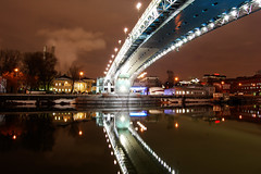 Your reflection (Wowe101) Tags: bridge reflection night russia moscow group mywinners abigfave platinumheartaward 100commentgroup 100comment