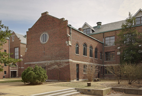 The former Christian Brothers College High School, in Clayton, Missouri, USA - chapel exterior