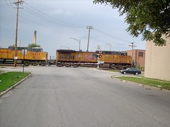 Eastbound Union Pacific unit coal train. Chicago Illinois. August 2007.