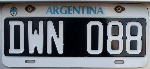 Argentine License Plate