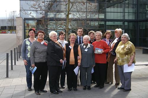 Damenbesuch im Landtag