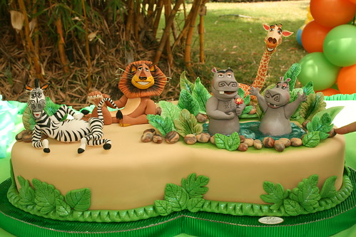 Madagascar, Madagascar cake and Cakes on Pinterest