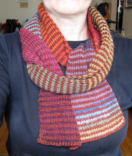 scarf of many colors on
