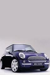 Nice Purple Mini car Iphone wallpaper