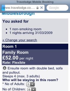iBooker room information