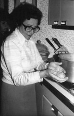 My grandma making the Gefilte fish