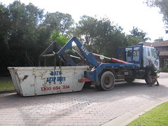 DATS Skip Bins (AussieGarbo) Tags: west trash truck garbage fighter collection equipment rubbish vehicle waste trans skip recycling fuso bins mitsubishi services dats rolloff marrell hooklift