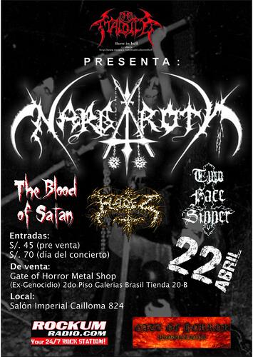 Afiches promocionales de conciertos metal