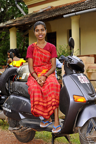 Portrait of A Goan Girl and Her Honda !!