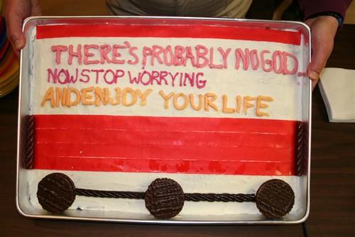 HAO Atheist Bus Cake