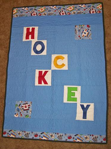 hockey quilt