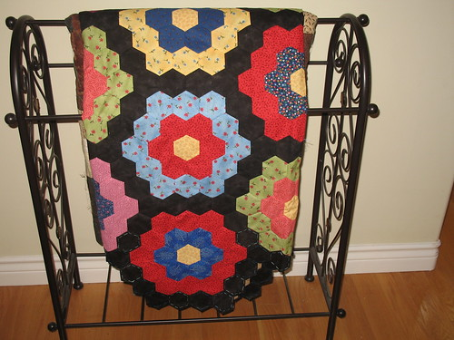 Grandmother's Flower Garden - 10 year quilt