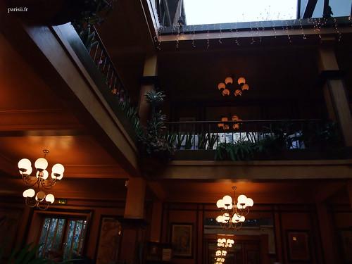 Patio intérieur du restaurant