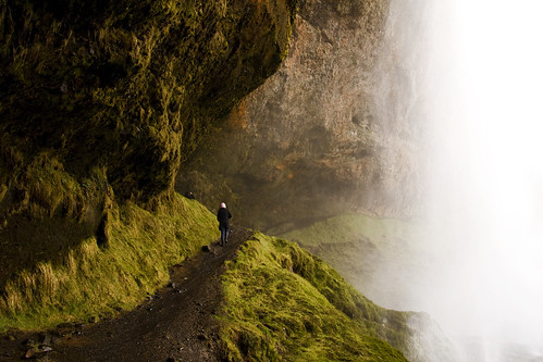 path behind the falls