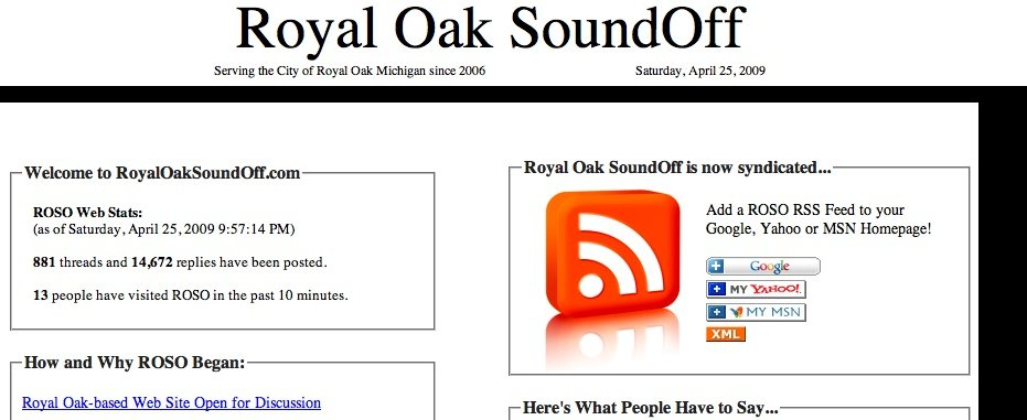Royal Oak SoundOff has . . . SignedOff