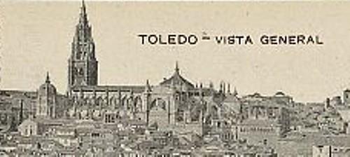 Vista del Cimborrio de la Catedral de Toledo aún en pie. Foto Librería Menor