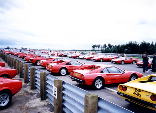 Ferrari Display at Silverstone 1992