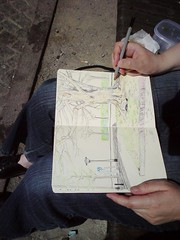 Tegning på klostertorvet