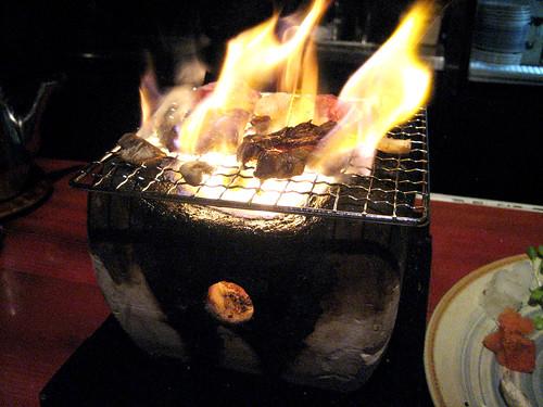 Grilling Beef at Musha