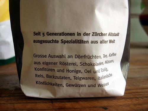 Trockenfrüchte von Schwarzenbach Kolonialwaren Zürich