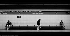 Barcelona Metro - Sagrada Famlia (jsprhrmsn.photography) Tags: barcelona blackandwhite white black blanco underground spain europe metro zwartwit negro bcn zwart wit bdf tmb blancyynegro jsprhrmsnphotography