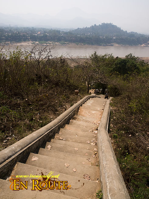 Wat Chom Phet Stairs and Mekong View
